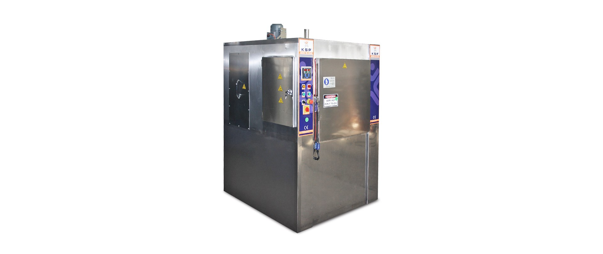 Industrial Drying Oven with Hot Air and Rotary Basket